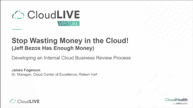 Stop Wasting Money in the Cloud