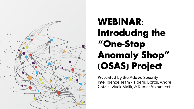 "Introducing the ""One-Stop Anomaly Shop"" (OSAS) Project"