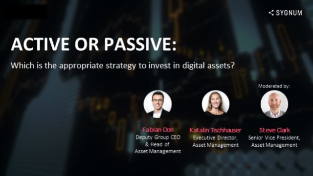 Active/Passive: Which is the appropriate strategy to invest in digital assets?