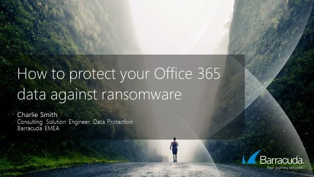 How to protect your Office 365 data against ransomware