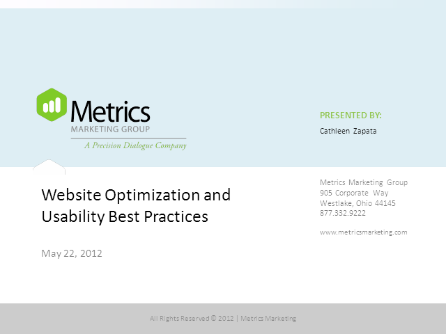 Website Optimization and Usability Best Practices