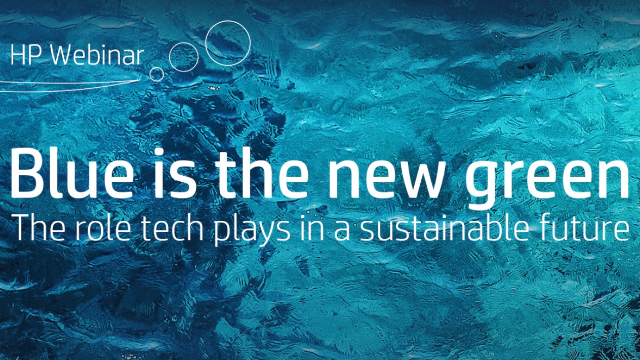 Blue is the new green: The role tech plays in a sustainable future