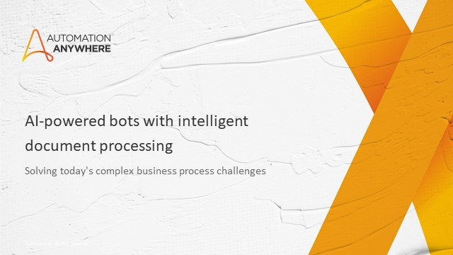 AI-powered bots with IDP: solving today's complex business process challenges