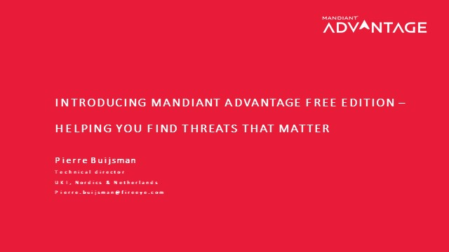Making the Most of Mandiant Advantage