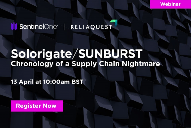 WEBINAR: SOLORIGATE/SUNBURST – CHRONOLOGY OF A SUPPLY CHAIN NIGHTMARE