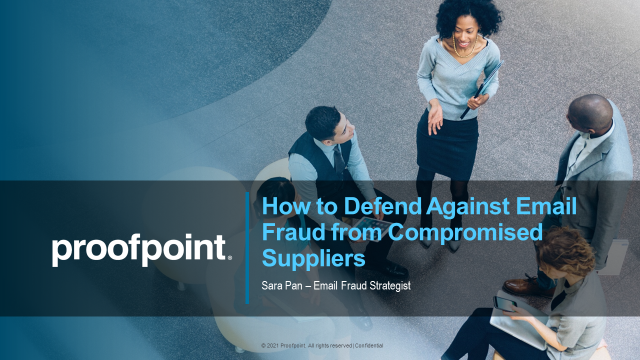 How to Defend Against Email Fraud from Compromised Suppliers