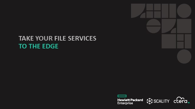 Take your file services to the edge