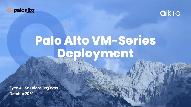 How To: Deploy Palo Alto VM Series Firewall with Alkira