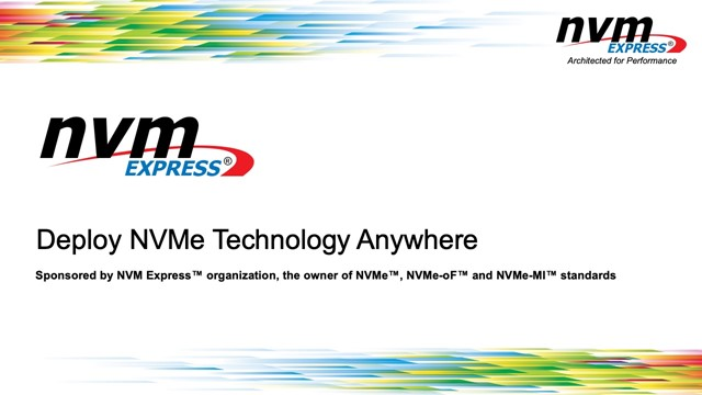 Deploy NVMe Technology Anywhere