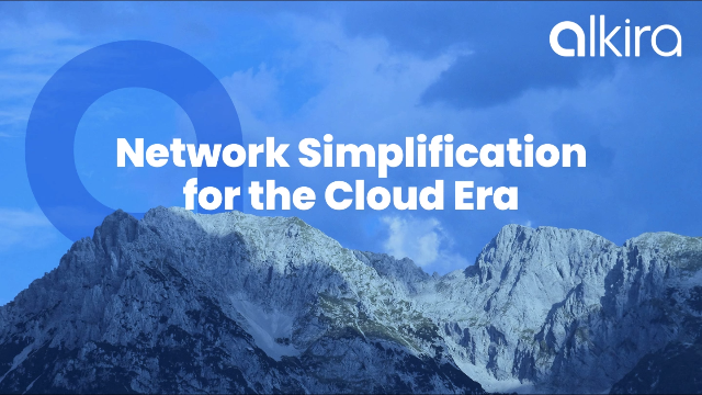 Network Simplification for the Cloud Era