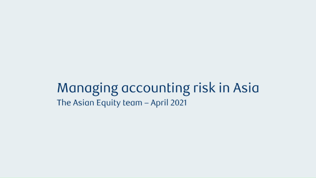 Managing accounting risk in Asia as stock pickers
