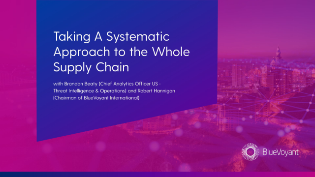 Taking a systemic approach to the whole supply chain