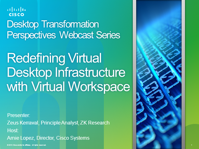 Redefining Virtual Desktop Infrastructure with Virtual Workspace