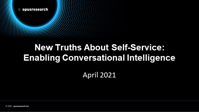 New Truths About Self-Service: Enabling Conversational Service Automation