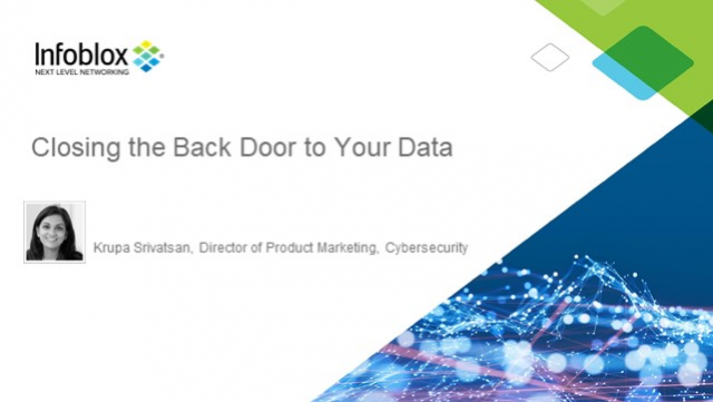 Close the Back Door to Your Data