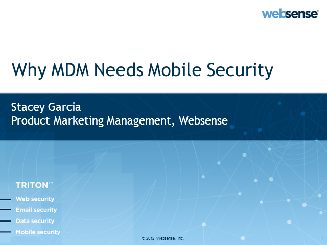 Why Mobile Device Management Needs Mobile Security