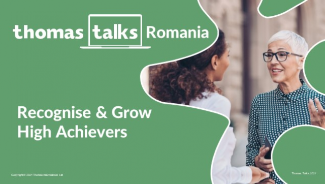Thomas Talks:Recognise and Develop High Achievers