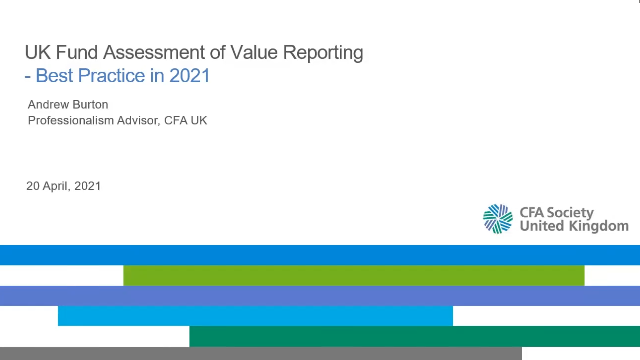 Value Assessments - Best Practice in 2021