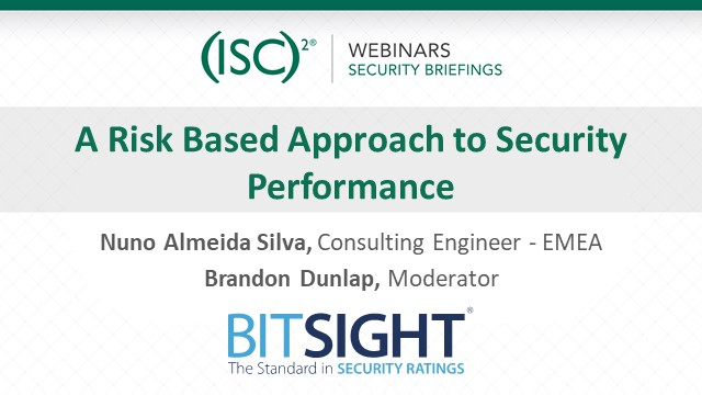 A Risk Based Approach to Security Performance