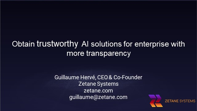 Obtain trustworthy AI solutions for enterprise with more transparency