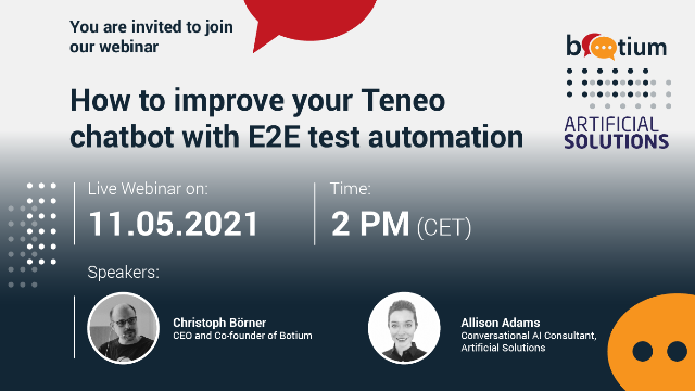 How to improve your Teneo chatbot with E2E test automation