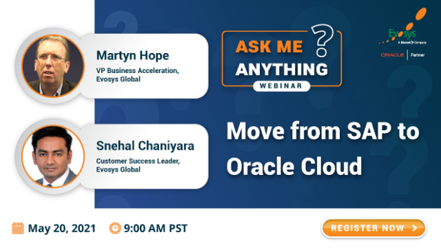 Ask Me Anything Session: Move from SAP to Oracle Cloud