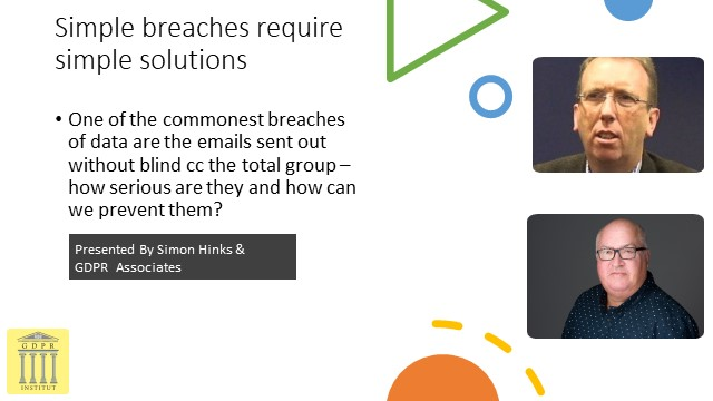 Simple breaches require simple solutions