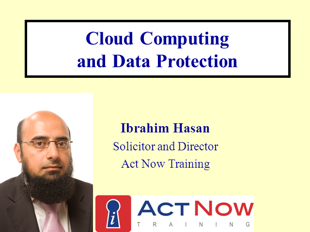 Cloud Computing and Data Protection