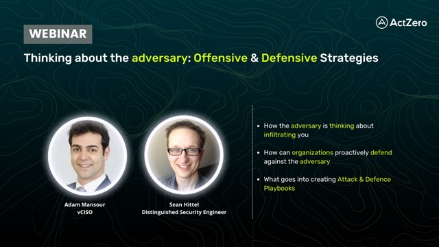 Thinking about the adversary: Offensive & Defensive Strategies