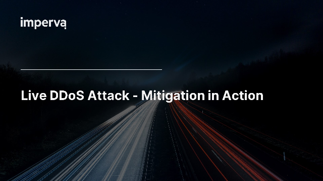 Live DDoS Attack - Mitigation in Action