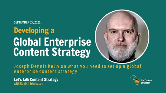 Developing a Global Enterprise Content Strategy