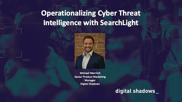 Operationalizing Cyber Threat Intelligence with SearchLight