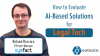 How to Evaluate AI-Based Solutions for Legal Tech