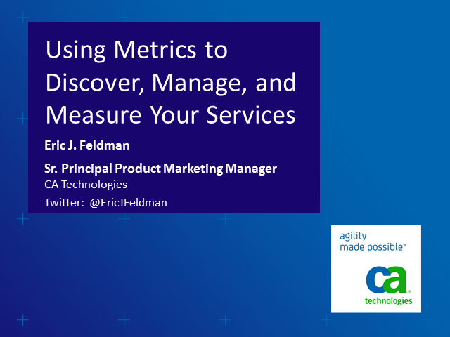 Metrics Imperative: Why Organizations Need Metrics to Plan, Build & Run Services