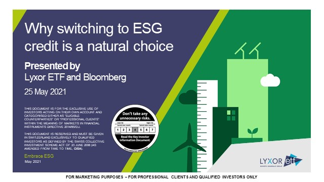 Why switching to ESG corporate bonds is a natural choice