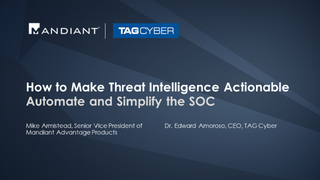 How to Make Threat Intelligence Actionable