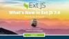 What's New in Ext JS 7.4