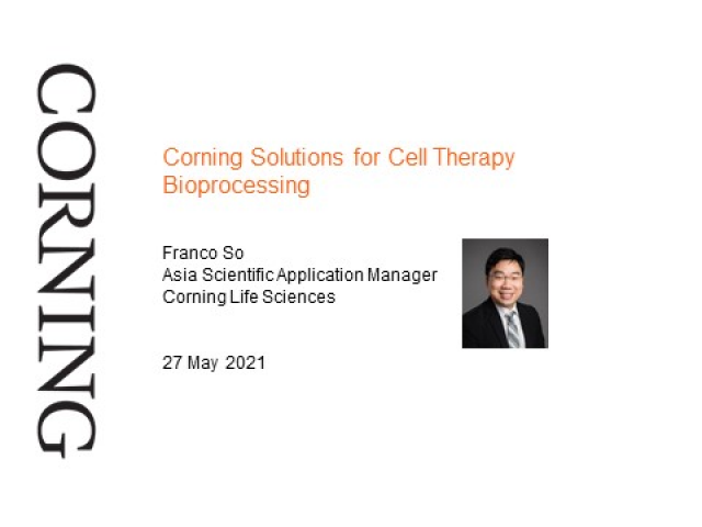 Corning Solutions for Cell Therapy Bioprocessing