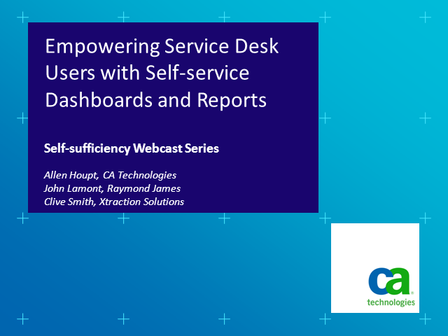 Empowering Service Desk Users with Self-service Dashboards and Reporting