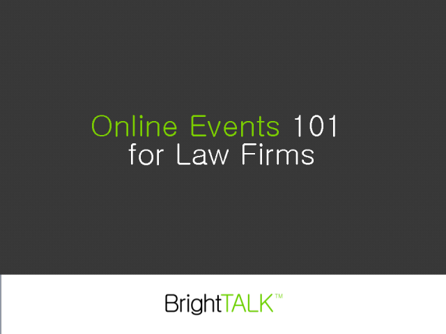 Online Events 101 for Law Firms