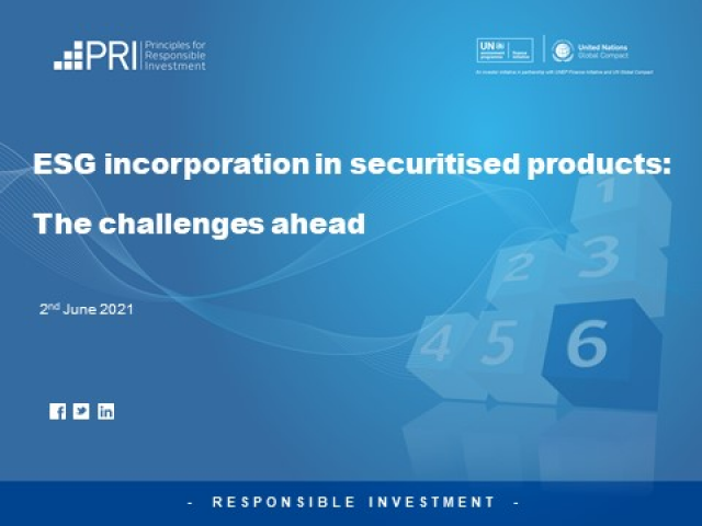 ESG in Securitised Products: The Challenges Ahead