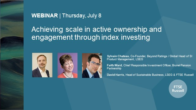 Achieving scale in active ownership and engagement through index investing