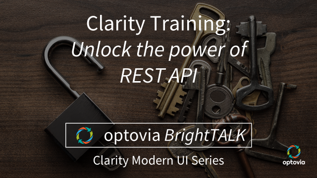 Clarity Training: Unlock the power of REST API