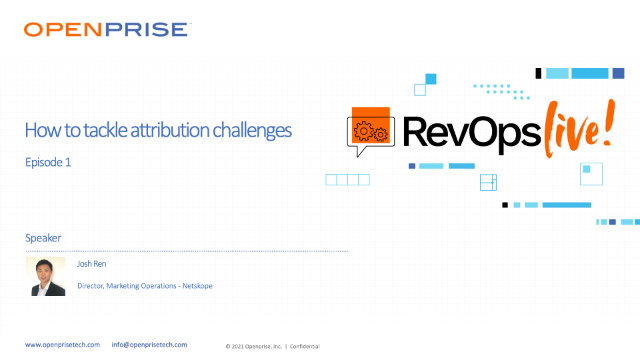 [RevOps Live!] How to tackle attribution challenges