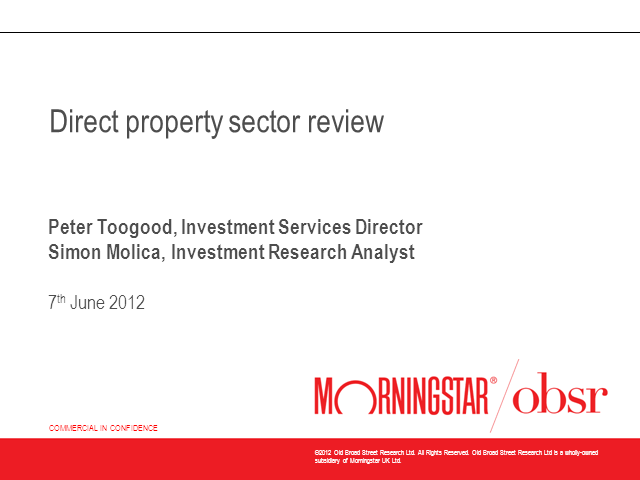 Property Sector - A Morningstar OBSR Overview