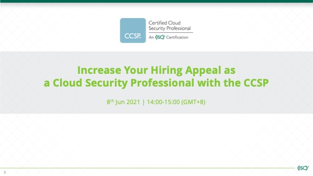 Increase Your Hiring Appeal as a Cloud Security Professional with the CCSP