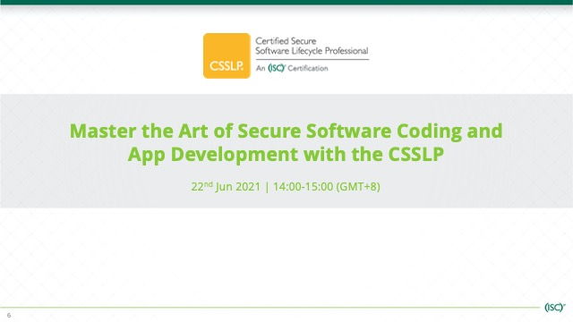 Master the Art of Secure Software Coding and App Development with the CSSLP