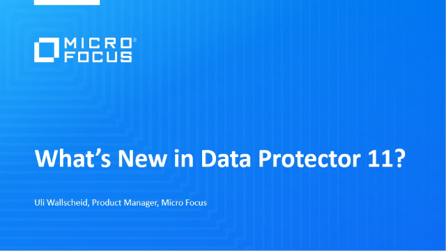 What's New in Data Protector 11?