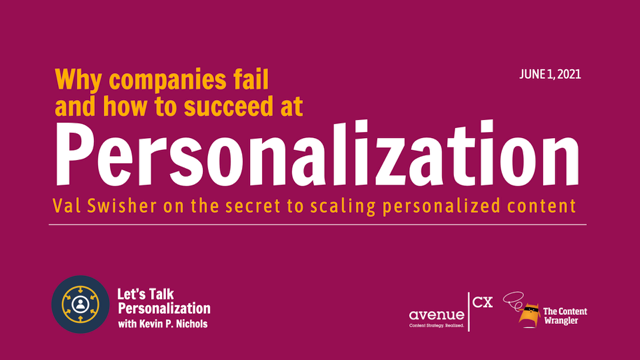 Let's Talk Personalization: Why Companies Fail and How to Succeed