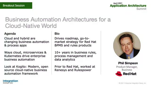 Business Automation Architectures for a Cloud-Native World
